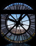 View through d`orsay museum clock tower,  Paris, France Stock Image