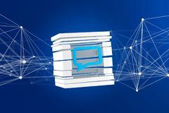 View of a 3D rendered Blue Email symbol displayed in a sliced cu. Be Stock Photos