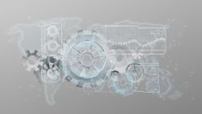 3d rendering gear wheel interface isolated on a background. View of a 3d rendering gear wheel interface isolated on a background vector illustration