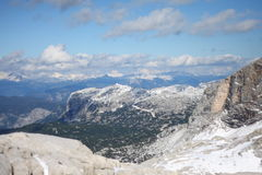 View from Dachstein. Mountains near the Hoher Dachstein in Austria, the second highest mountain in the Northern Limestone Alps. The Hallstatt-Dachstein region is Royalty Free Stock Images
