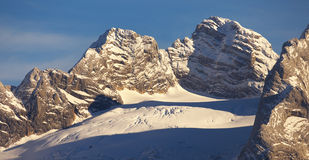 View of Dachstein Group, Austria Royalty Free Stock Images