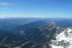 View from Dachstein mountain Royalty Free Stock Images