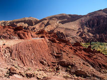 View from dades valley. Wide landscape in dades valley, Morocco Africa Royalty Free Stock Image