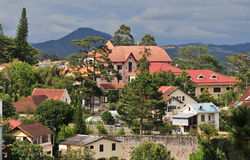 View of Dalat city from the hill Royalty Free Stock Photography