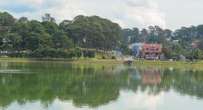 View of Dalat city and Xuan Huong lake Stock Images