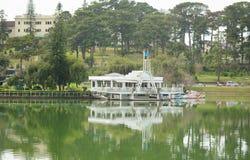 View of Dalat city and Xuan Huong lake Royalty Free Stock Image
