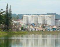 View of Dalat city and Xuan Huong lake Stock Image