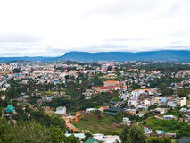 View of DaLat popular tourist in Vietnam. View of Da Lat, or Dalat, is the capital of Lam Dong Province in Vietnam. Dalat is a popular tourist destination Royalty Free Stock Photography