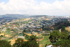 View of Dalat, Vietnam. Photo of the city of Dalat, the height of 1500 meters above sea level, Vietnam royalty free stock photos