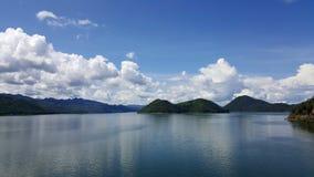 View from dam located in Srinakarin Dam Kanchanaburi Stock Photo