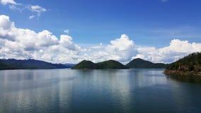 View from dam located in Srinakarin Dam Kanchanaburi Stock Images