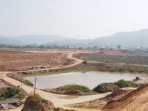 View of Dam site Stock Image
