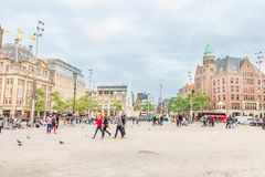 View of the Dam square, Amsterdam, The Netherlands Stock Image