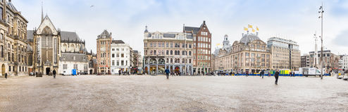 View of the Dam square, Amsterdam Royalty Free Stock Images