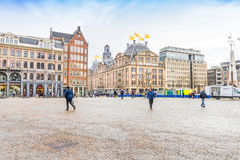 View of the Dam square, Amsterdam Stock Image