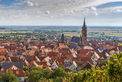 View of  Dambach la Ville, Alsace, France Stock Photo