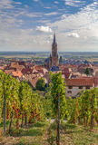 View of  Dambach la Ville, Alsace, France Royalty Free Stock Photos