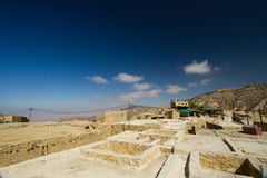 View of Dana village. A view of Dana village, Jordan, on a hot summer afternoon Royalty Free Stock Images