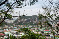 View on Danang marble town from top of Am Phu cave Royalty Free Stock Photo