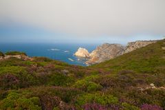 View of danger cliffs in Cabo Penas, Spain Stock Images