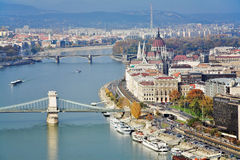 View on Danube and the Hungary Parliament royalty free stock image