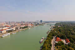 View of Danube River in Bratislava, Slovakia Royalty Free Stock Photos