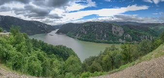 Panoramic view of the Danube River from Golo Brdo, Serbia Stock Images