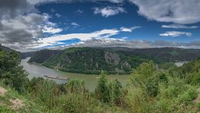 Panoramic view of the Danube River from Golo Brdo, Serbia Royalty Free Stock Image