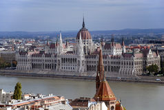 View of the Hungarian Parliament Royalty Free Stock Images
