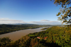 View of danube from Visegard castle mountain, Hung Stock Photos