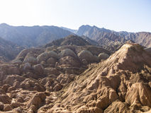 View of Danxia landform in Zhangye Royalty Free Stock Photos