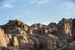 View of Danxia landform in Zhangye Royalty Free Stock Photography