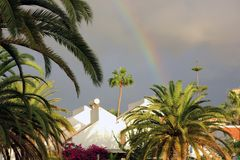 Rainbow after tropical storm royalty free stock images