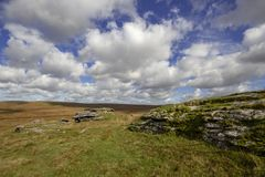 View of Dartmoor from Rough Tor royalty free stock images