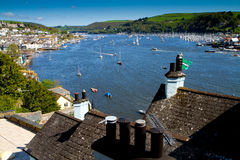 A view of Dartmouth and the River Dart. A view of historic Dartmouth and the River Dart in Devon, England Stock Photo