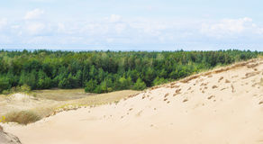 View of Dead Dunes, Nida, Klaipeda, Lithuania Stock Image