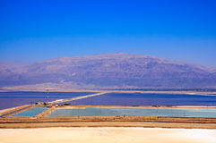 View on Dead Sea from a cliff in the area of Sodom road Stock Image