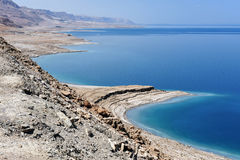 View of Dead Sea coastline. Royalty Free Stock Photography