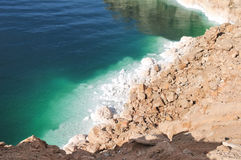 View of Dead Sea Coastline. View of the Dead Sea coastline. The Dead Sea is the deepest hypersaline lake in the world Stock Images