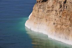 View of Dead Sea Coastline. View of the Dead Sea coastline. The Dead Sea is the deepest hypersaline lake in the world Royalty Free Stock Image
