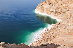 View of Dead Sea Coastline. View of the Dead Sea coastline. The Dead Sea is the deepest hypersaline lake in the world Stock Photography