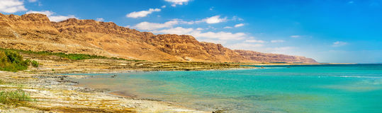 View of the Dead Sea coastline Stock Image