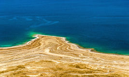 View of Dead Sea coastline in Israel Stock Image