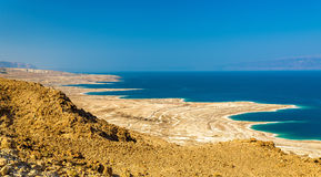 View of Dead Sea coastline in Israel Royalty Free Stock Photo
