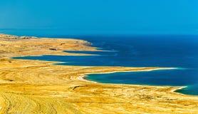View of Dead Sea coastline in Israel Royalty Free Stock Photos