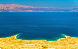 View of Dead Sea coastline in Israel Royalty Free Stock Photos