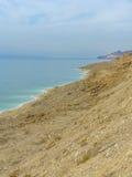 View of Dead Sea coastline Royalty Free Stock Photos