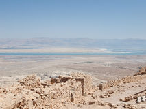 View of Dead Sea from fortress Masada, Royalty Free Stock Photography