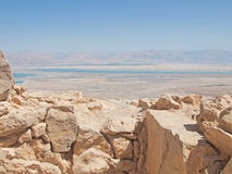 View of Dead Sea from fortress Masada, Stock Images