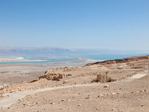 View of Dead Sea from fortress Masada, Stock Image